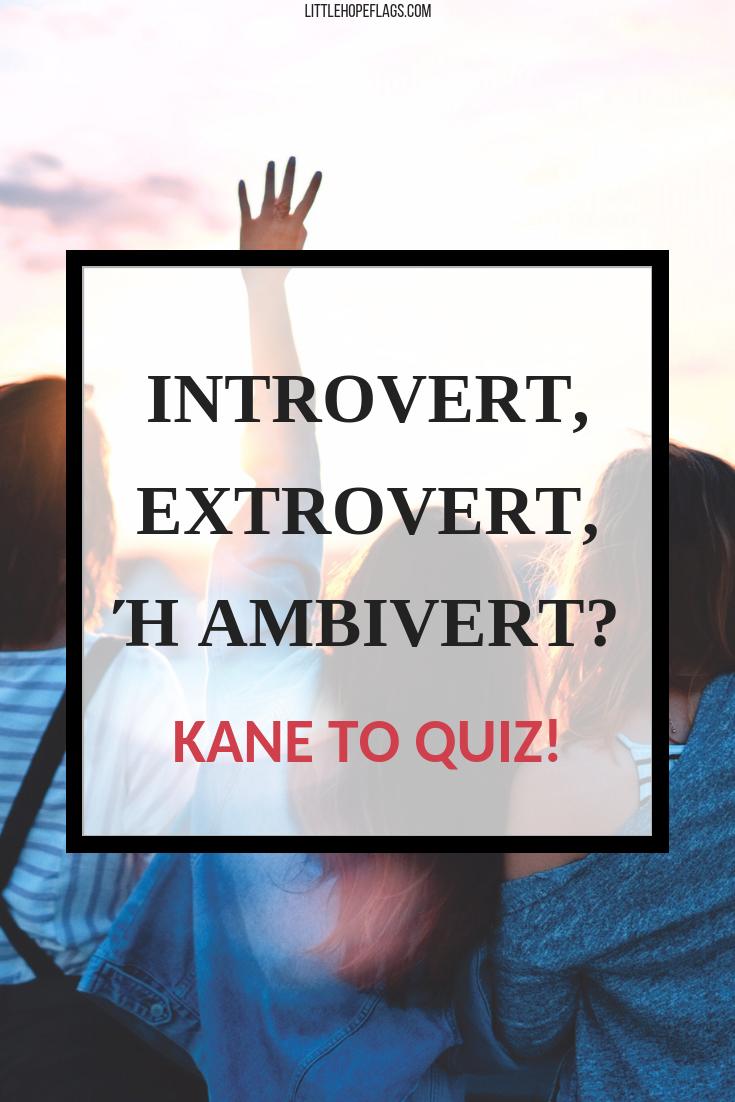 Introvert extrovert ambivert